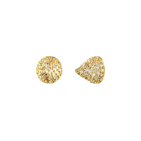 Pave Small Cone Stud Earring
