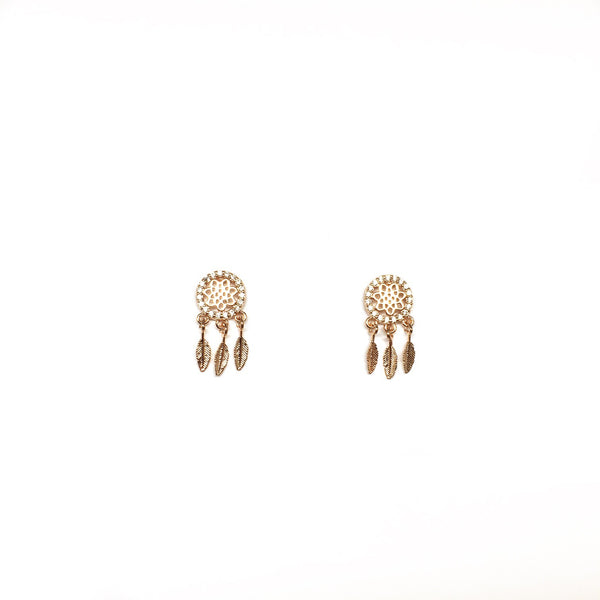 Pave Dreamcatcher Earrings