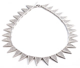 Pave Small Flat Triangle Collar