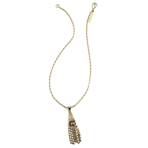 Mini Pavé Cone Tassel Necklace
