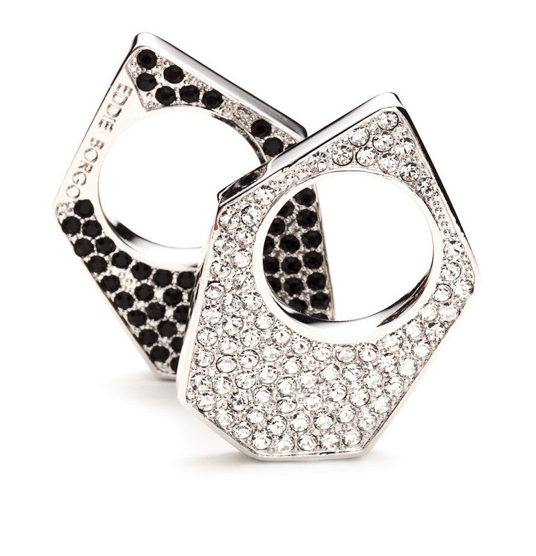 Two Tone Pave Flat Ring