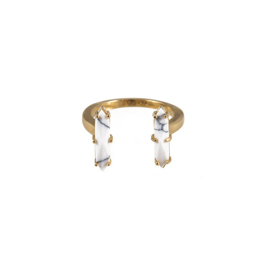 Athena Gold & Marble Cuff Ring