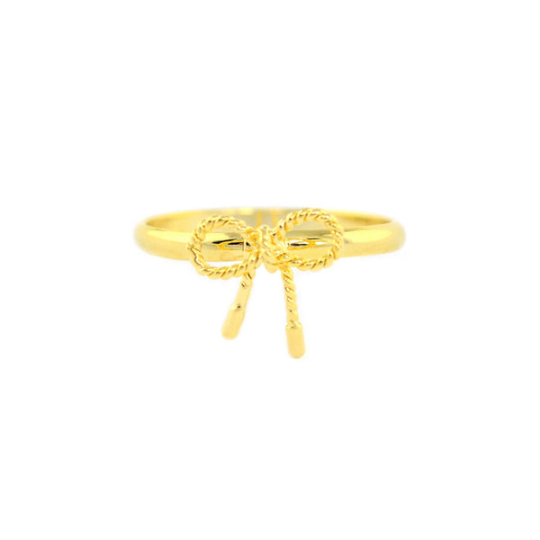 Bow-Twist Gold Ring