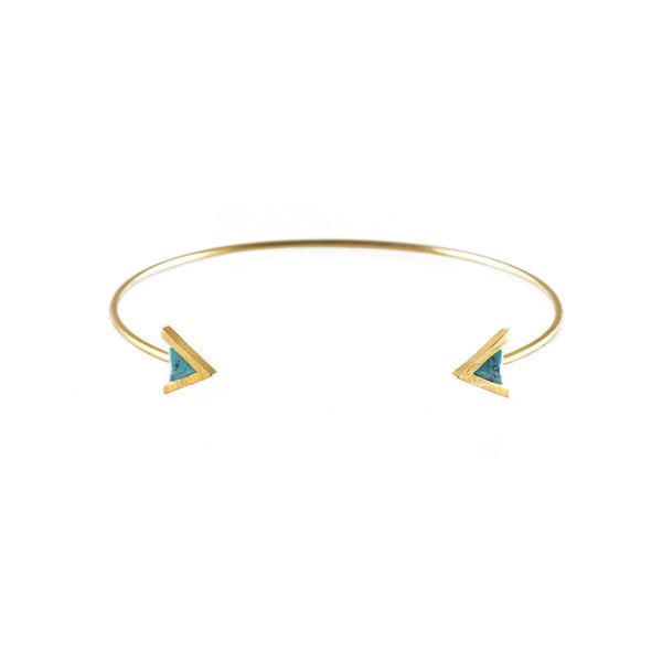 Delta Gold & Turquoise Cuff