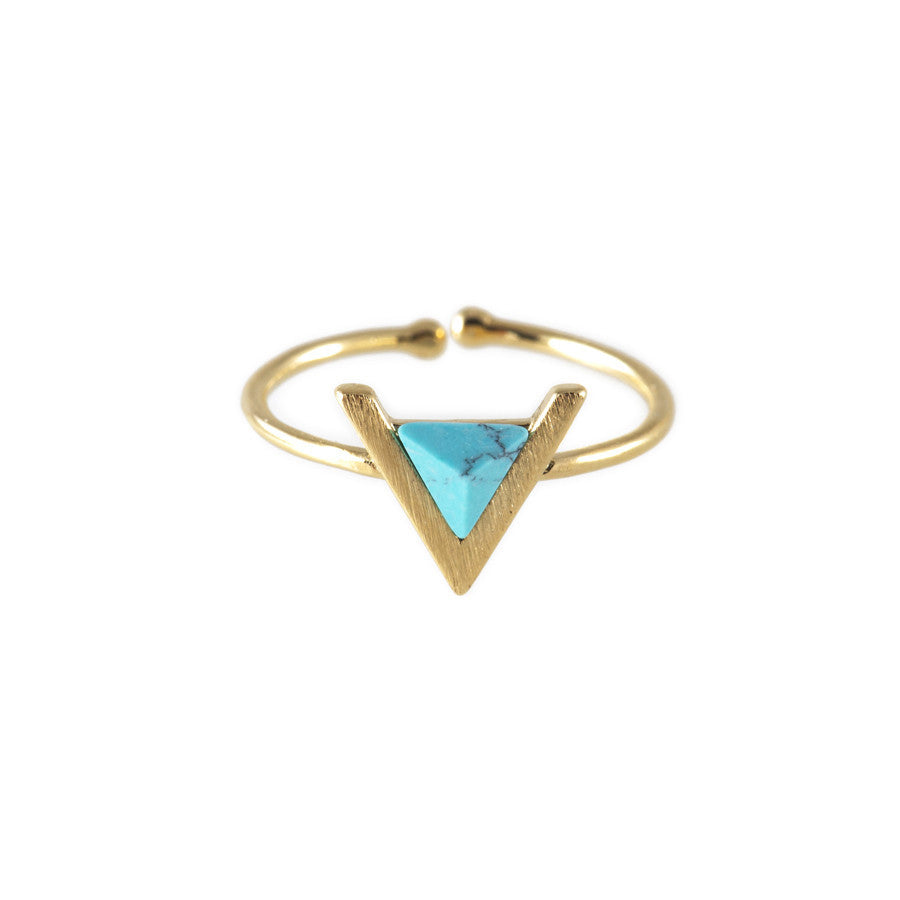 Delta Gold & Turquoise Ring