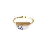 Luna Gold & Marble Ring