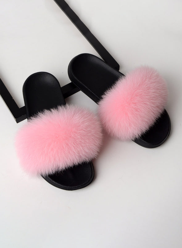 Pink Furry Soft Indoor or Outdoor Slippers LC12046-10