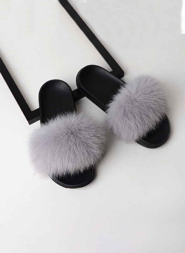 Silver Furry Soft Indoor or Outdoor Slippers LC12046-13