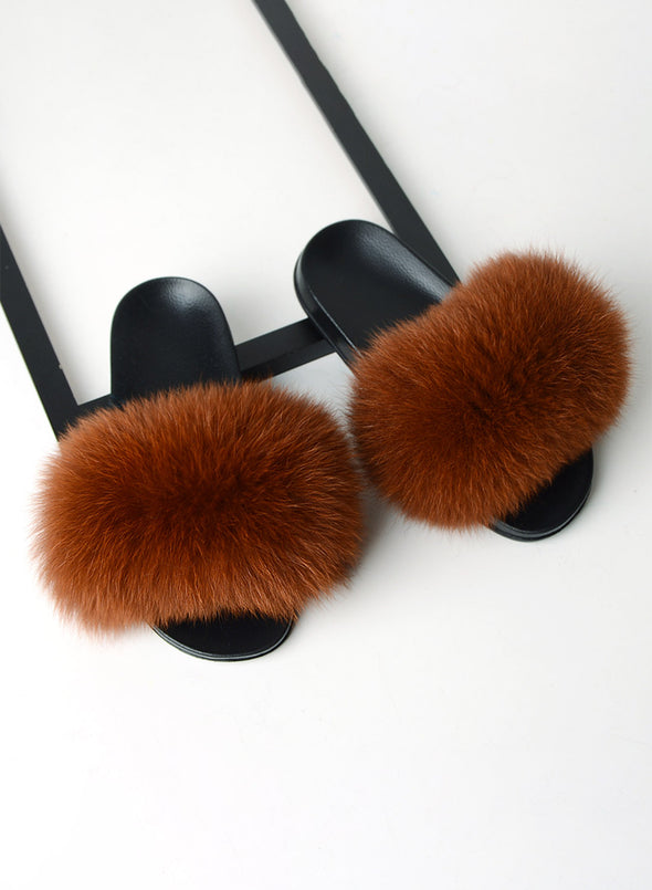 Brown Furry Soft Indoor or Outdoor Slippers LC12046-17