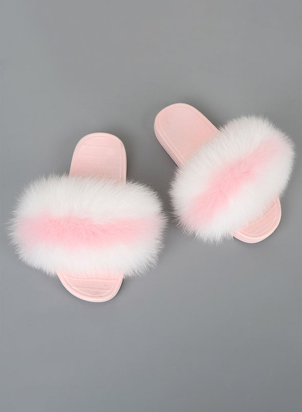 Stripe Furry Soft Indoor or Outdoor Slippers LC12046-19