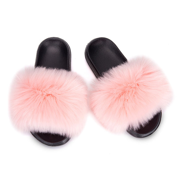 Pink Furry Soft Indoor or Outdoor Slippers LC12046-1010