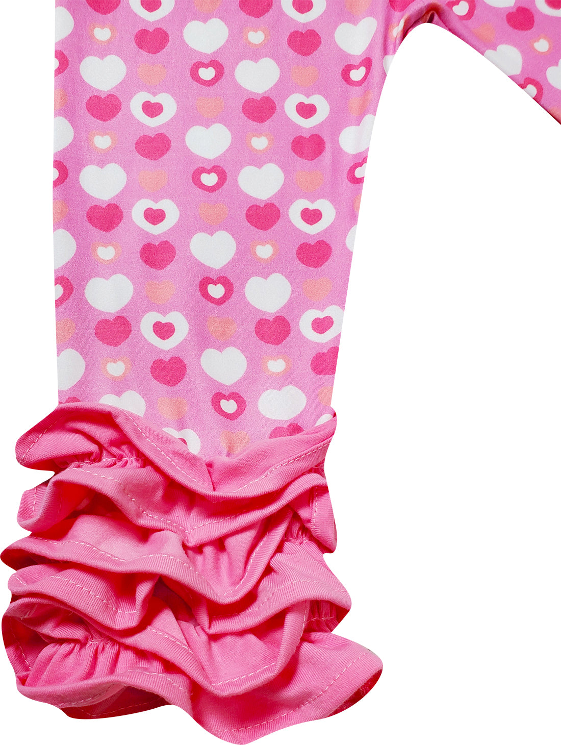 Baby Toddler Little Girls Minnie Mouse Love Hearts Ruffle Top Capri Set - Pink