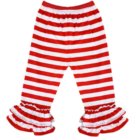 Angeline Kids:Baby Little Girls Valentines Day Hello Kitty Ruffles Dress Set - Red STripes