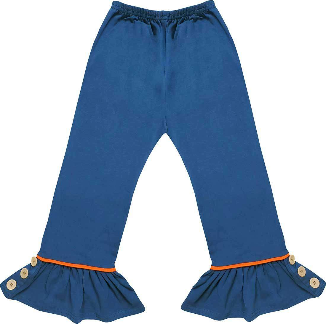 Angeline Kids:Baby Toddler Little Girls Ruffles Pants - Teal