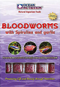 Bloodworms With Spirulina & Garlic