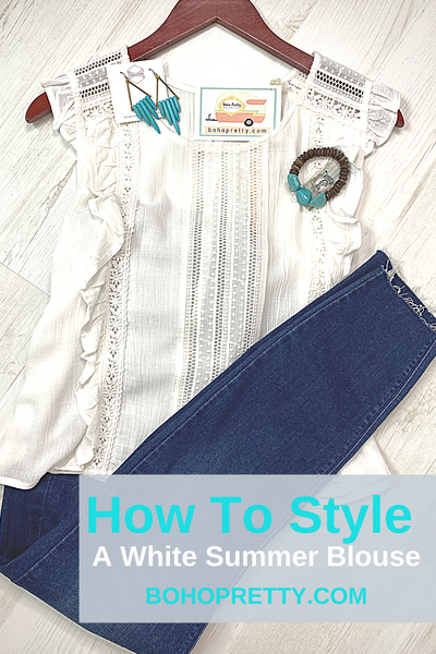 How To Style A White Summer Blouse