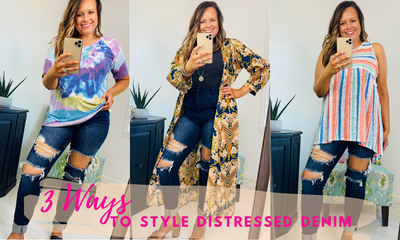 Three Ways To Style Distressed Denim