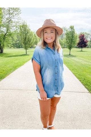 Lillian Chambray, Summer outfit, 4th of July, Boutique, Boho pretty, women's fashion, what to wear