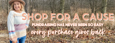 shop for a cause, fundraising, giveback, philanthropy, online shopping, shopping parties, boho pretty