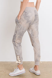 Laced Joggers, Lavendar, Distressed, Trendy, Fashion, Boho Pretty