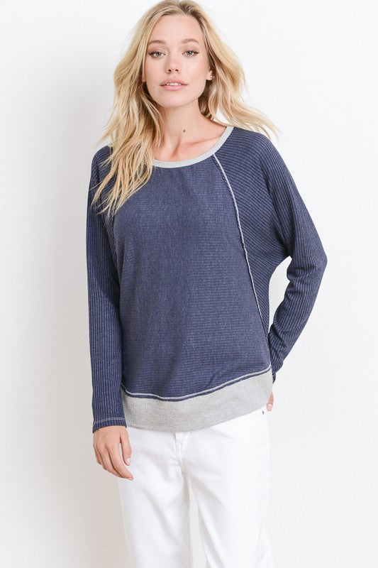 Feeling Chic Top, Navy, Sweater, Fashion, Boho Pretty