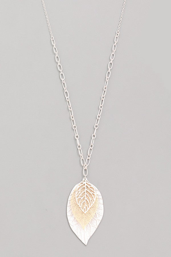 Plant Leaf Necklace
