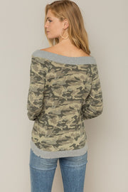 Falling For Camo Top, Olive, Fall Fashion, Boho Pretty, Trendy
