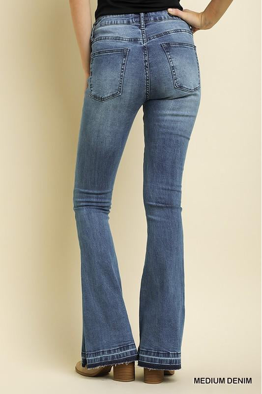 Flare Leg Denim, High Waist, Jeans, Fashion, Trendy, Boho Pretty
