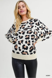 Who's That Girl Leopard Sweater