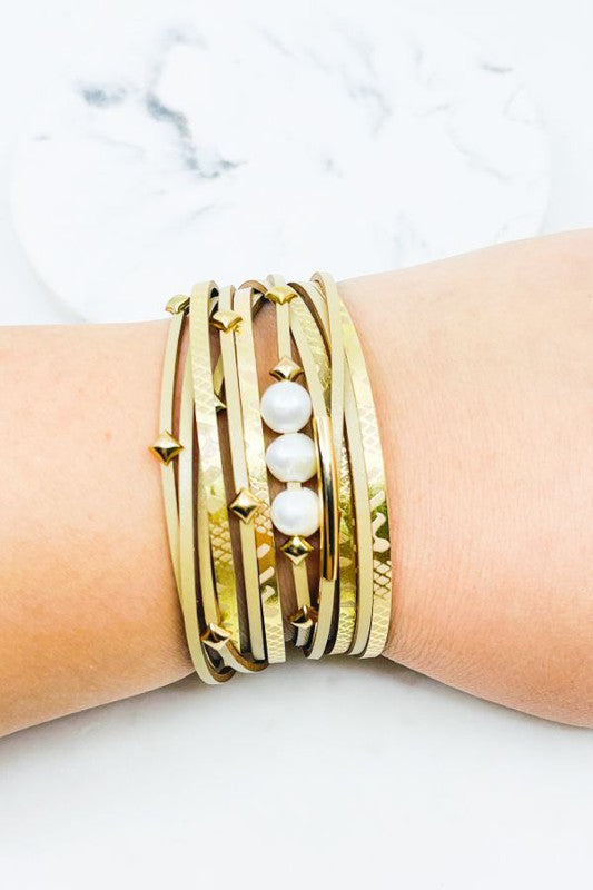 Mermaid Pearl Wrap Magnetic Bracelet