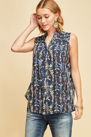 Flower Chain Button Down Top