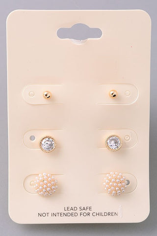 Snowcap Earring Set