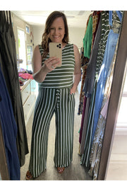 Summer Escape Stripe Sleeveless Jumpsuit