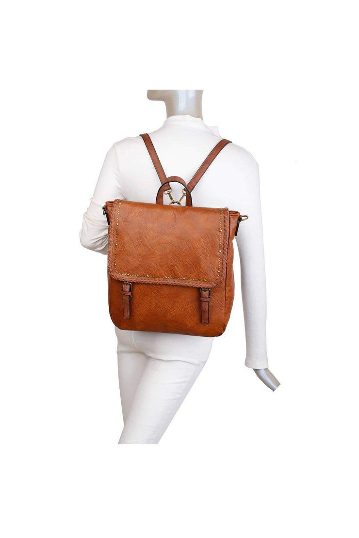 gifts gift guide holiday christmas The Carolina Backpack Convertible cognac boho pretty boutique accessories2