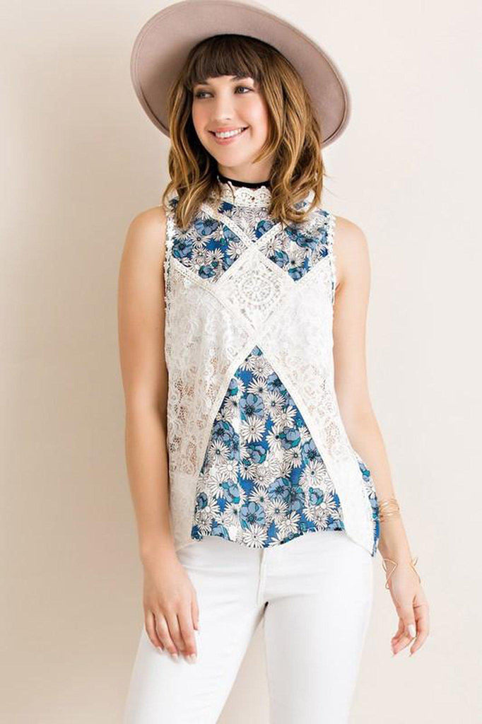 Florals and Lace Top