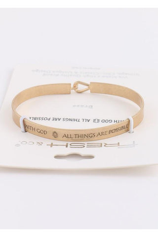 All Things Are Possible Bracelet