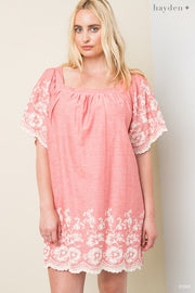 Stay Cool Dress, Rose, Embroidery, Fashion, Boho Pretty