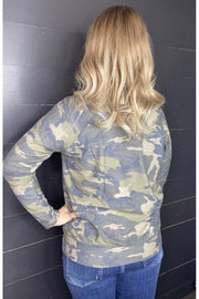 wide neck camo top kangaroo pocket cherish soft fabric boho pretty online womens clothing