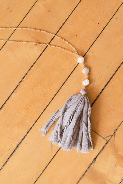 Tassels by the Sea Necklace