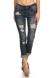 Medium Blue Jeans, Distressed, Denim, Fashion, Trendy, Boho Pretty