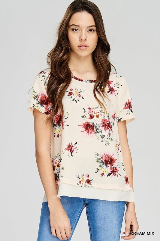 Fierce and Floral Top, Boho Pretty, Trendy, Fashion