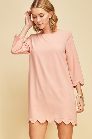 Perfect Day Scalloped Shift Dress