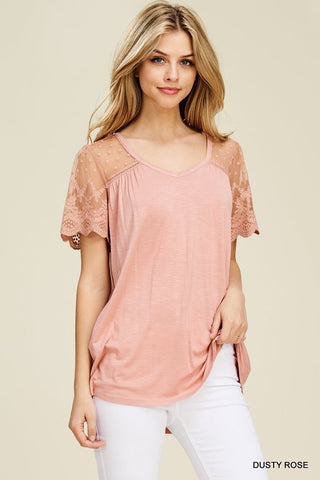 Sweet and Scalloped Top