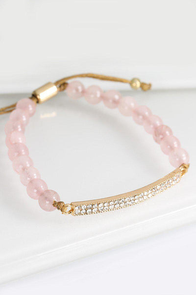Rose Bar Bead Bracelet