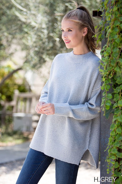 Better Now Sweater, Grey, Boho Pretty, Fashion