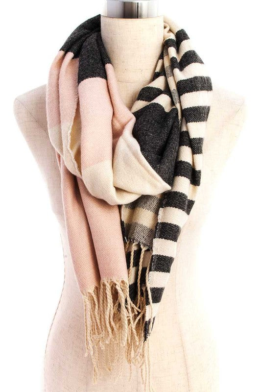 Be Prepared Scarf, Burgundy, Beige, Pink, Winter Fashion, Boho Pretty