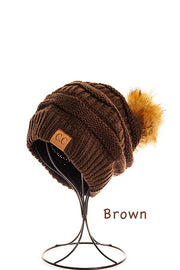 C.C. Pompom Beanie Hat, Winter Fashion, Trendy, Boho Pretty
