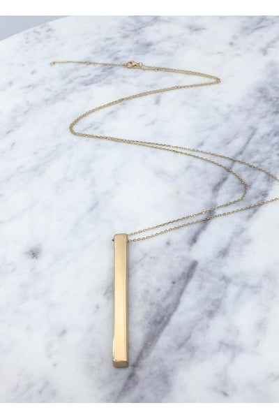 Solid Bar Necklace, Gold, Accessories, Jewelry, Boho Pretty, Trendy