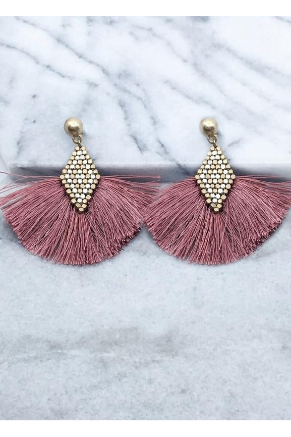 Nugget Tassel Earrings, Accessories, Fashion, Boho Pretty