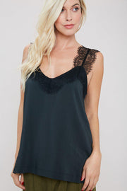 Eyelash Lace Trim Cami